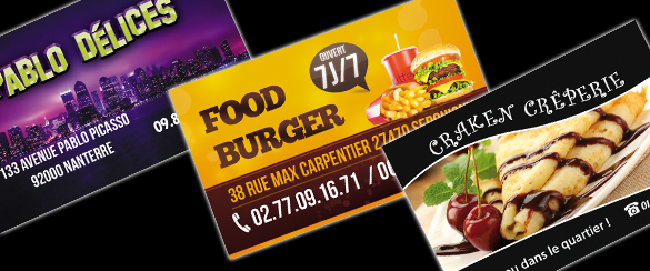 Cartes De Visite Fidlit Pour Restaurants